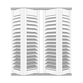 Buiten shutter - Vouwrailsysteem