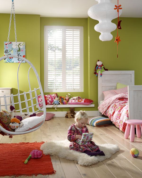 Shutters in hippe kinderkamer